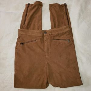 Abercrombie & Fitch tan faux suede pants Size 2